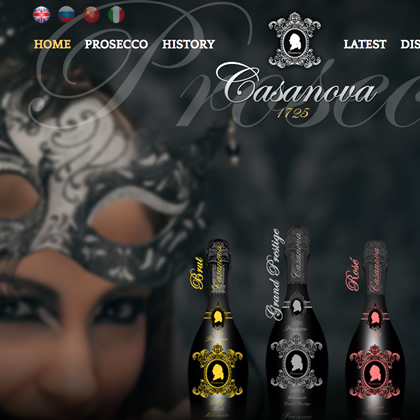 dzinr - Venetian Prosecco Launch Website